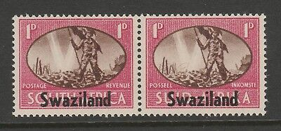 Swaziland 1946 Victory 1d with 'BARBED WIRE' flaw SG 39a/ CW S4a Mnh.