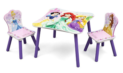 Delta Disney Princess Table and Chair Set, Kids Activity Table & 2 Chairs
