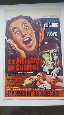 Corruption Belgian Movie Poster Peter Cushing Sue Lloyd