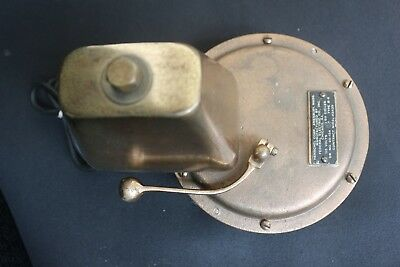 LOUD HENSCHEL Brass Electric Alarm Bell DR NO 20-154 Type B-6  FEDERAL ELECTRIC