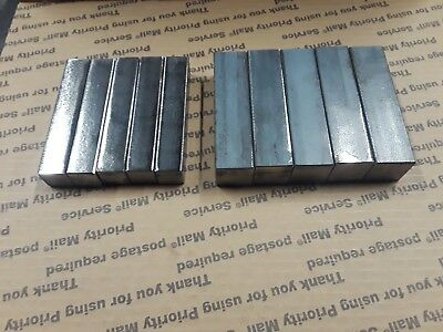 "Blacksmith Hardy 10 pieces 1 inch by 4 inch and 3/4"" by 4"" square stock Forge"