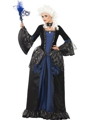 SALE Adult Baroque Beauty Ladies Halloween Masquerade Fancy Dress Costume Outfit