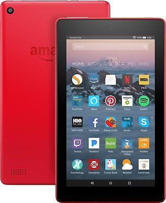 """Amazon - Fire 7 - 7"""" - Tablet - 8GB 7th Generation, 2017 Release - Punch Red"""
