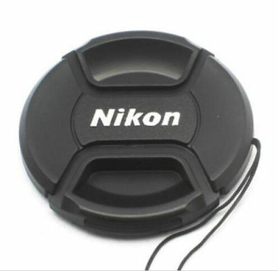 77mm Size Snap-on Central Pinch Front Lens Cap Cover For Nikon Lens with String