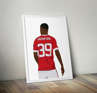 Marcus Rashford, Manchester United, Poster, Print, Wall Art, Home Decor, Gift