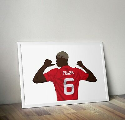 Paul Pogba, Manchester United, Poster, Print, Wall Art, Home Decor, Gift