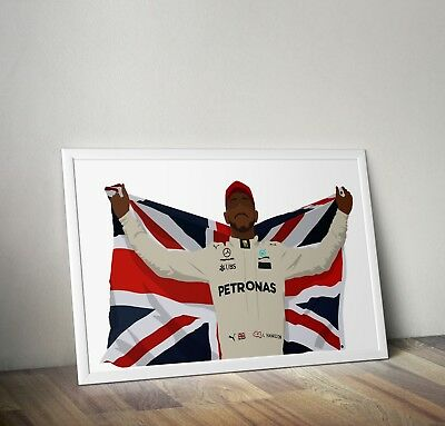 Lewis Hamilton, F1, Poster, Print, Wall Art, Home Decor, Gift