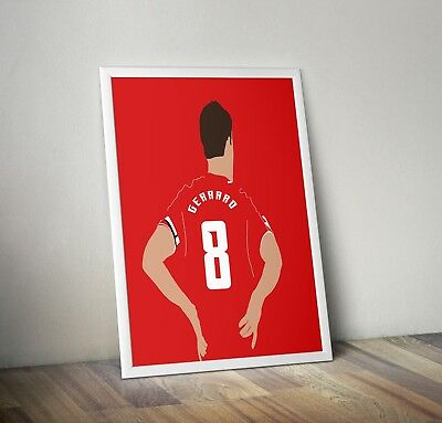 Steven Gerard, Liverpool, Poster, Print, Wall Art, Home Decor, Gift