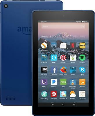 """Amazon - Fire 7 - 7"""" - Tablet - 8GB 7th Generation, 2017 Release - Marine Blue"""