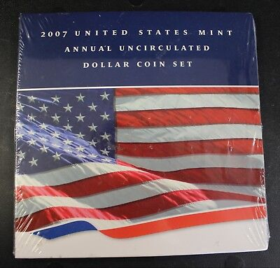 2007 United States Mint Annual Uncirculated Coin Set Unopened 1 oz Silver Coin