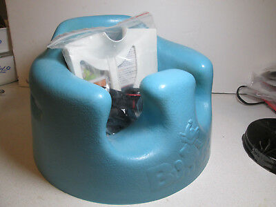 Bumbo Baby Floor Seat With Safety Straps - BLUE - VGUC