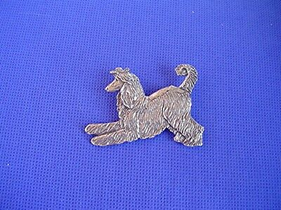 Afghan Hound Pin Playing Stylized Pewter Dog Jewelry by Cindy A. Conter 32D