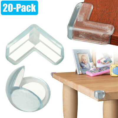 20pcs Baby Safety Table Desk Edge Corner Cushion Guard Soft Bumper Protector