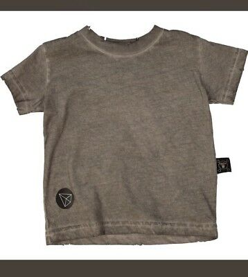 Girls Nununu Grey Distressed Cotton Scented Top For 6-12 Month Old