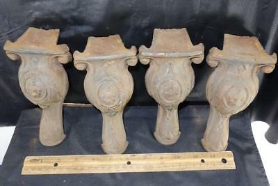 Set Of 4 Antique Cast Iron Claw Foot Tub Stove Feet Legs !!
