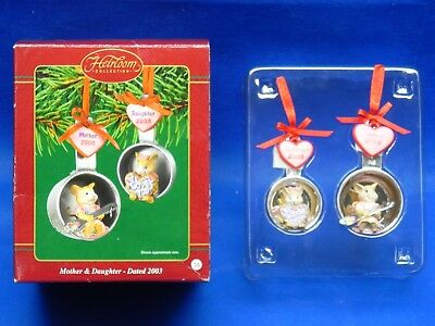 Carlton Cards Heirloom Collection Mother & Daughter 2003 Christmas Ornament NEW