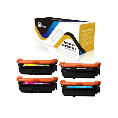4-Pack Jumbo: Cyan + Magenta + Yellow + Jumbo Black WORLDS OF CARTRIDGES Remanufactured Toner Cartridge Replacement for HP 504A for Use in Color Laserjet CM3530 CP3525 504X