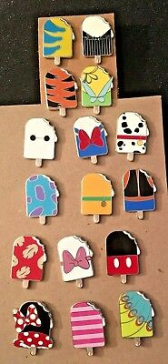 Disney Pin Popsicle Ice Cream Mystery Series Complete Set Of 16 2018