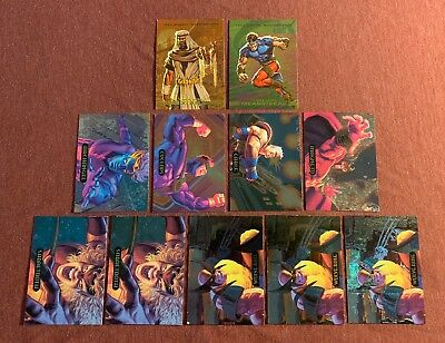 1993 / 1994 Marvel Masterpieces Card Lot Of 11 Insert Cards Vg/ex/nm Please Read