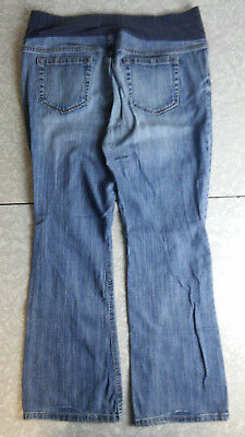 Old Navy ~ Maternity BootCut Medium Wash Blue Jeans Fully Belly L Large