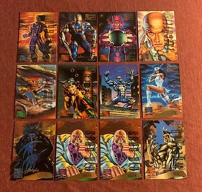 1995 Marvel Masterpieces Card Lot Of 12 Gold Signature Cards Vg/ex/nm Pleas Read