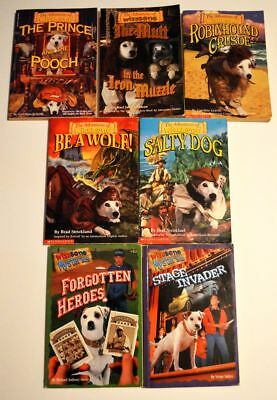 Lot of 7 Wishbone Dog Adventures/Mysteries paperback story books- classic tales