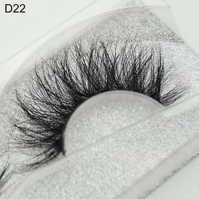 SKONHED 3D Mink Hair False Eyelashes Wispy Cross Lashes Fluffy Lashes Extension
