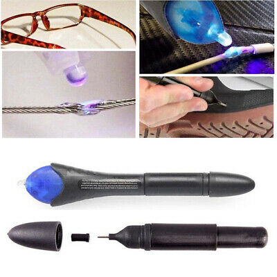 UV Light Repair Tool Quick 5 Second Pen + Glue Refill Liquid Plastic Welding Kit