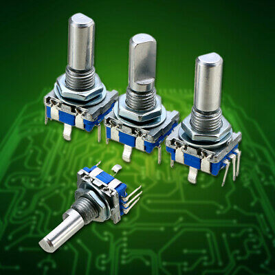 3pcs 6mm Shaft Dia 20 Position 5 Pin 360 Degree Rotary Encoder W/Push Button Kit
