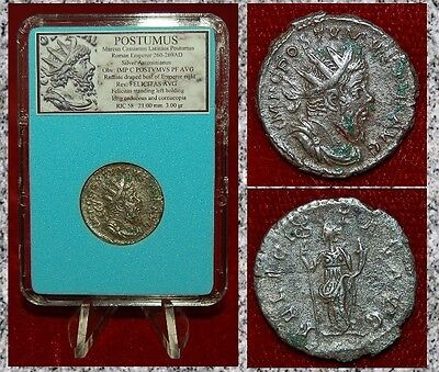 Ancient Roman Empire Coin POSTUMUS Felicitas On Reverse Silvered Antoninianus