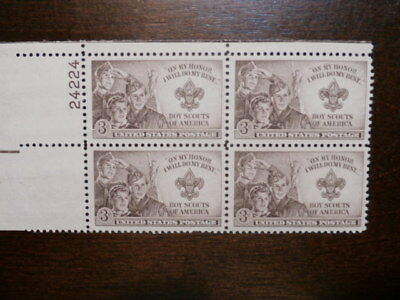 Stamps - Plate Block - Boy Scout Stamp