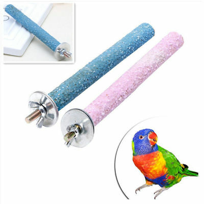 Pet Bird Stand Chew Toys Parrot Paw Grinding Colorful Perches Funny Budgie Tool