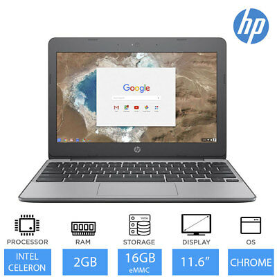 "HP Chromebook 11-V000NA 11.6"" Cheap Laptop Deal Intel Dual Core, 2GB RAM, 16GB"