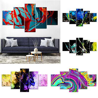 Modern Abstract Canvas Print Painting Framed Home Decor Wall Art xx Poster 5Pcs