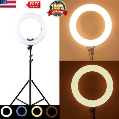 14'' 9'' Dimmable LED Ring Light Kit 5600k w/Light Stand for Camera Photo Video