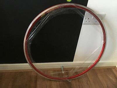 NOS Vintage Mavic CXP 33 Anodised Red 28h (Set)