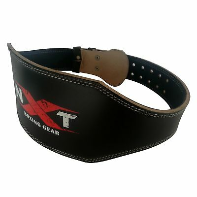 "Gym Weight Lifting Belt 6"" Leather Back Support Gym Heavy Weight Training Belt"
