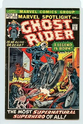 Marvel Spotlight #5 ( 1St Appearance Ghost Rider ) Fn ( 1972 ) Marvel Comic Book