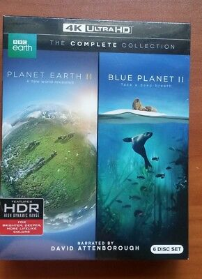 New Bbc 🐧🐬🐠🐋planet Earth Ii & Blue Planet Ii 4 K Ultra Hd 6 Disc Collection