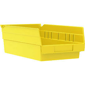 "Akro-Mils Plastic Shelf Bin Nestable 30130 - 6-5/8""W x 11-5/8""D x 4""D Yellow"