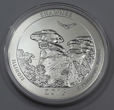 Quarter  - USA - 2016 - America the Beautiful - Shawnee - 5 oz Ag