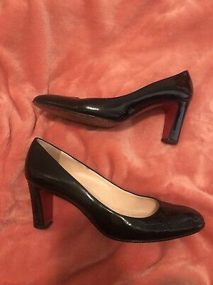 timeless design ce7e4 df43d $625 CHRISTIAN LOUBOUTIN Cadrilla 70 Pumps in Black Patent Leather Size  39.5/8.5