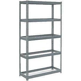 """Extra Heavy Duty Shelving 48""""W x 24""""D x 72""""H With 5 Shelves, No Deck"""