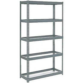 """Extra Heavy Duty Shelving 48""""W x 18""""D x 72""""H With 5 Shelves, No Deck"""