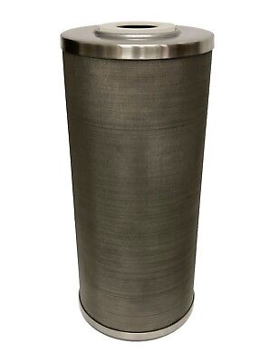 "Stainless Steel Cleanable Screen Filter Cartridge, 20"" length, 4.3""OD, 50 micron"