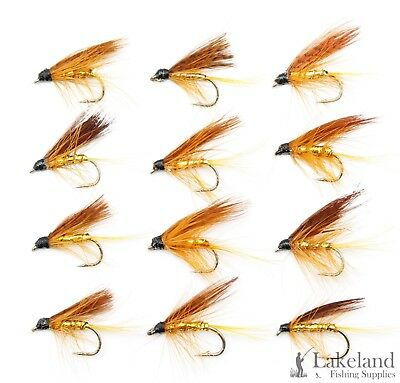 3 Set M25S 6 or 12x Hardys Golden Butcher Wet Trout Flies for Fly Fishing