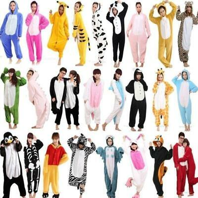 2019 Unisex Adult Pajamas Unicorn Kigurumi Cosplay Costume Animal Sleepwear Xmas