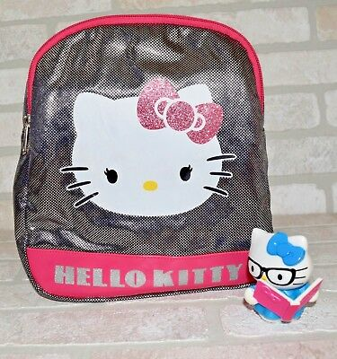 Hello Kitty mini Backpack small Sparkle 2012 silver and pink