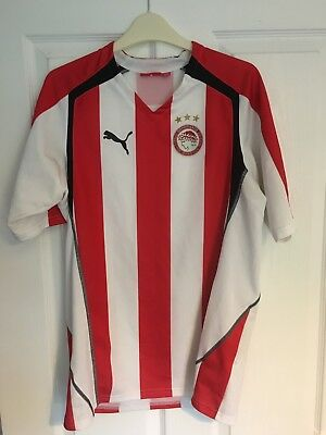 2005/2006 Olympiakos home football shirt Puma Greek Greece large men's
