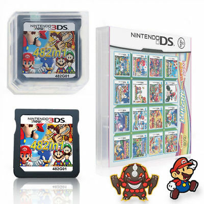482 In 1 Video Game Cartridge Console Card For Nintendo 2DS 3DS NDSI NDS NDSL